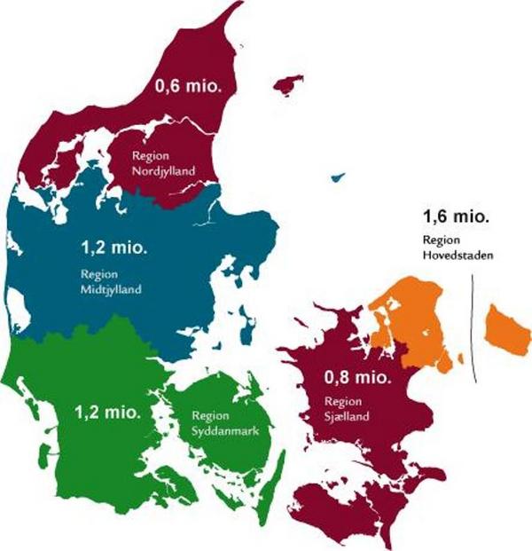 Regionerne og deres opgaver